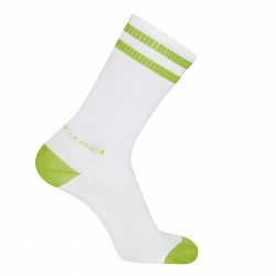 Chaussettes homme double rayures sport VERT