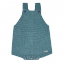 garter stitch baby romper STONE BLUE