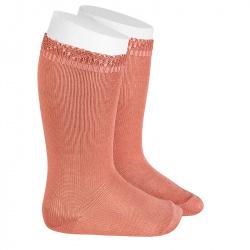 Chaussettes hautes bordure ajourée PIVOINE