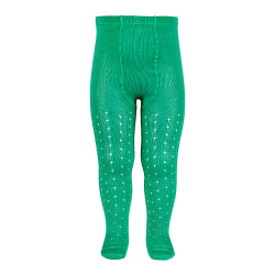 Perle openwork tights lateral spike CHLOROPHYLL