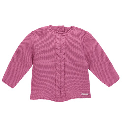 Pull tricot avec tresses centrales CASSIS
