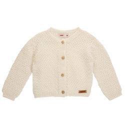 Cardigan en tricot avec relief laine mélange ECRU