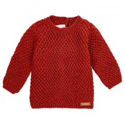 Merino blend sweater in micro relief CAULDRON