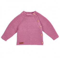 Pull point mousse boutons devant CASSIS