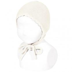 Garter sttich classic bonnet BEIGE