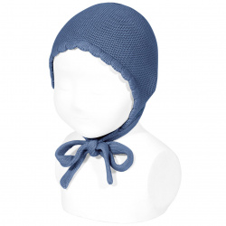 Garter sttich classic bonnet FRENCH BLUE