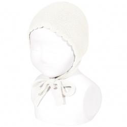 Garter sttich classic bonnet CREAM