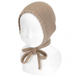 Bonnet point mousse en coton NOUGAT