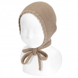 Garter sttich classic bonnet NOUGAT