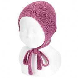 Bonnet point mousse en coton CASSIS