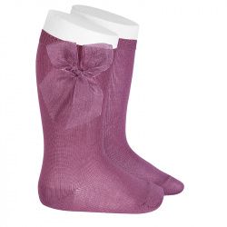 Knee high socks with organza bow CASSIS
