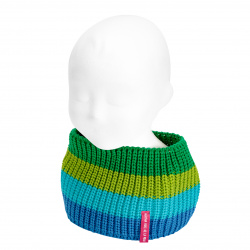 Baby pearly stitch multicolour snood-scarf ELECTRIC BLUE