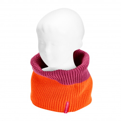 Cou enfant point anglais bicouleur ORANGE