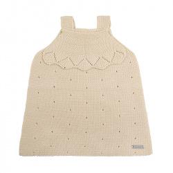 Links stitch openwork dress LINEN