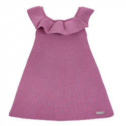 Garter stitch dress with flounces CASSIS