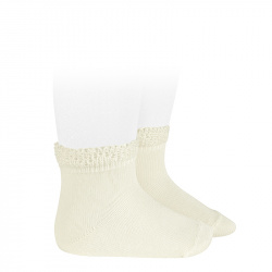 Calcetines cortos bolillo calado CAVA