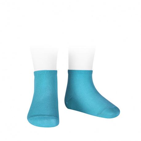 Calcetines tobilleros algodón elástico AZUL TURQUESA
