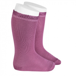 Ceremony knee-high socks with openwork cuff CASSIS