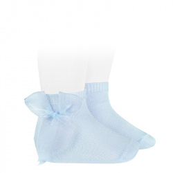 Ceremony short socks with tulle bow BABY BLUE