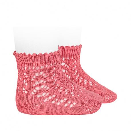 Chaussettes courtes coton ajourée CORALLIEN