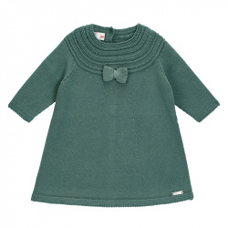 Border link dress with bow LICHEN GREEN