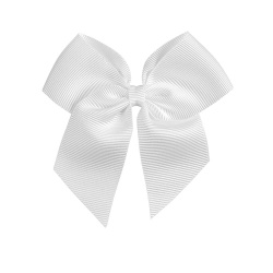 Hairclip with grossgrain bow WHITE