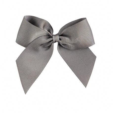 Hairclip with grossgrain bow LIGHT GREY