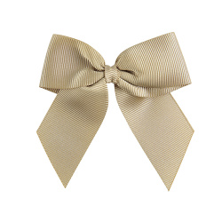 Hairclip with grossgrain bow CAMEL