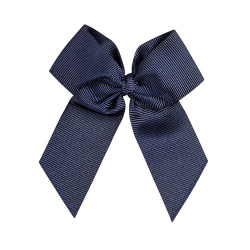 Hairclip with grossgrain bow NAVY BLUE