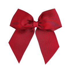 Hairclip with grossgrain bow RED