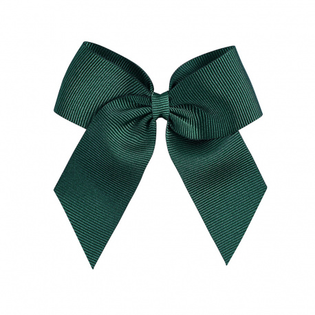 Hairclip with grossgrain bow BOTTLE GREEN