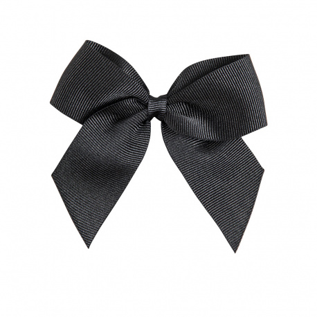 Hairclip with grossgrain bow BLACK