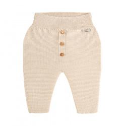 Pantalon tricot avec boutons LIN