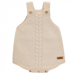 Front braided baby romper LINEN