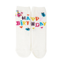 Chaussettes sans talon happy birthday