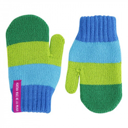 Multicolour one-finger mittens ELECTRIC BLUE