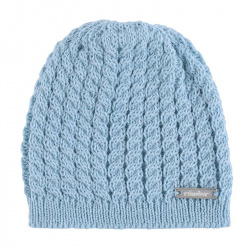 Baby knit hat with braids CLOUD