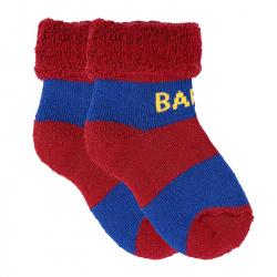 Chaussettes courtes tissu-éponge barça bébé