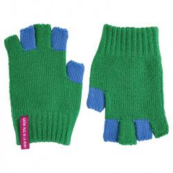 Bicolour fingerless gloves BILLIARD GREEN