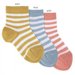 Calcetines cortos listado bicolor