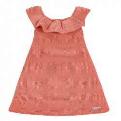 Garter stitch dress with flounces PEONY