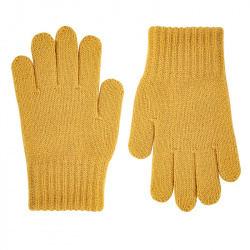 Gants tricot basiques MOUTARDE