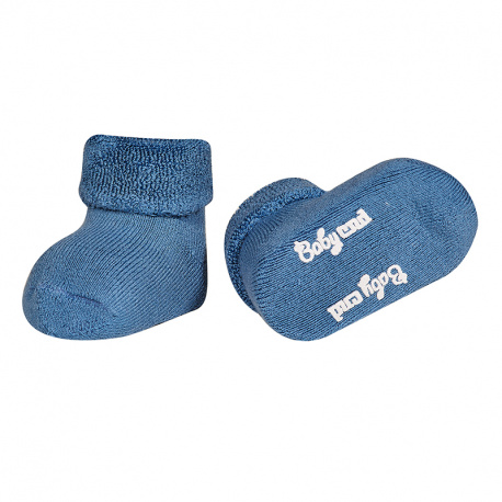 Baby cnd terry boots with folded cuff FRENCH BLUE