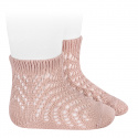 Spike openwork perle short socks