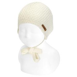 Gorro bebé micro relieve mezcla lana merino CAVA