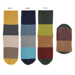 Chaussettes antidérapantes à larges rayures