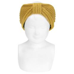 English stitch hair turban MUSTARD