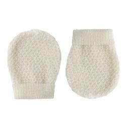 Merino blend no thumb mittens with smallrelief BEIGE