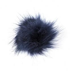 Clip de cabell amb borla de pèl ecològic BLAU MARI