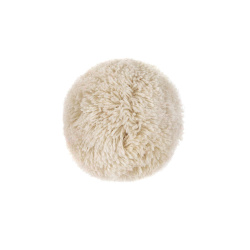 Hair clip with pompom LINEN